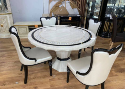 Italian Furniture Round Table and Chairs